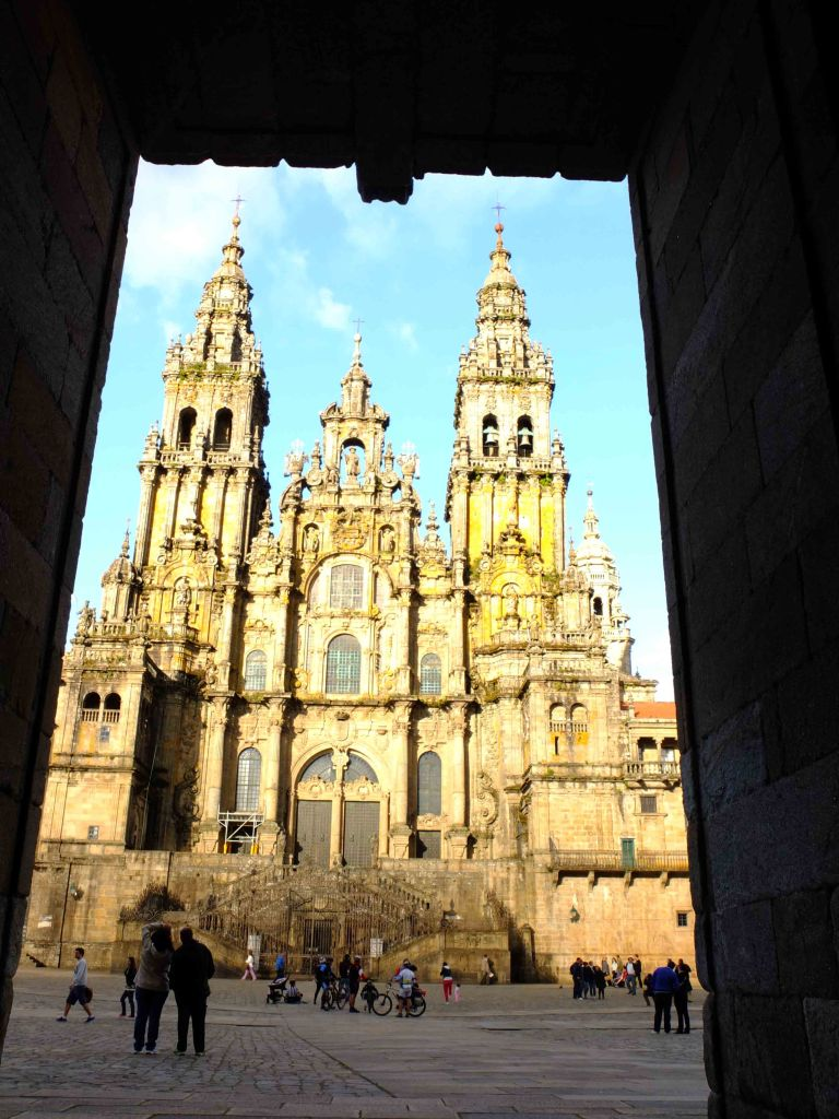 Santiago cathedral thru door